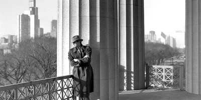 1992: Chet Coppock poses by a colonnade in the northwest corner of Soldier Field for a photograph in Chicago Stories, a book profiling the lives of 60 famous Chicagoans.
