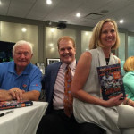 (L to R) Ronnie Bull, Chet Coppock and Dana Buffone at Chet's Book Launch party at the East Bank Club.